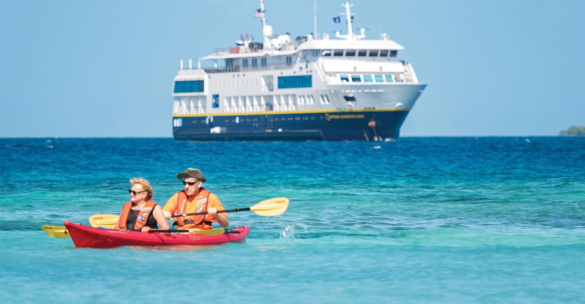 Small Ship Voyages Book Luxury Cruises with Lindblad National Geographic Cruises - Kayaking Excursion