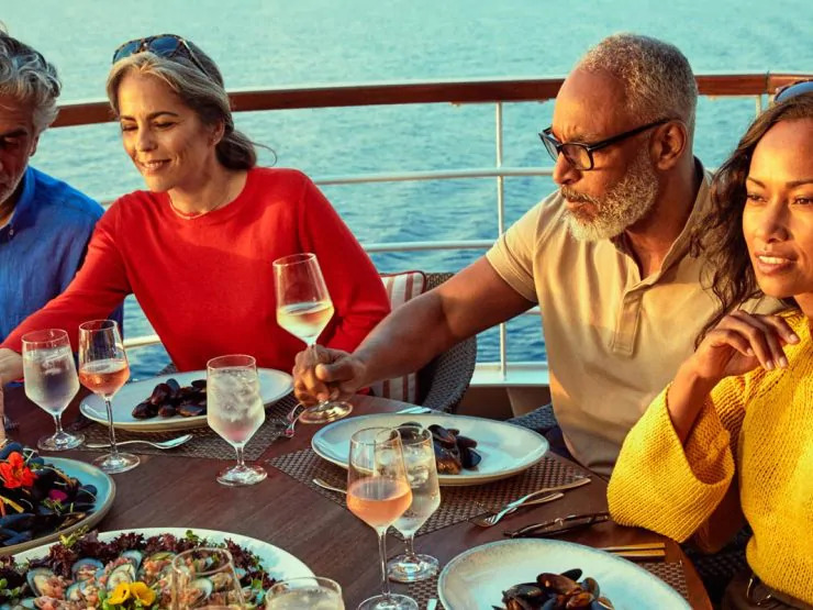 Small Ship Voyages Book Luxury Cruises with Seabourn Cruises - fine dining with friends