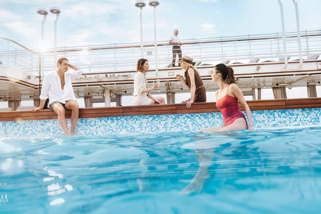 Small Ship Voyages Book Luxury Cruises with Silversea Cruises - relax in the pool